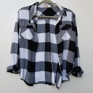 Thread and supply Black and white flannel